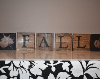 Reversible FALL / NOEL handmade wood sign!
