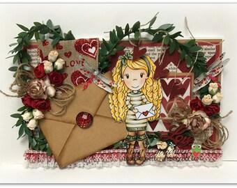 Paper Nest Doll Valentine's Card