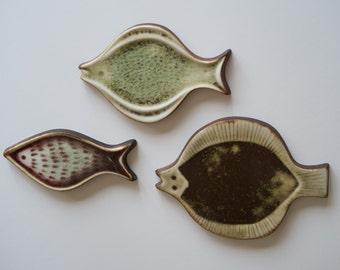 Set of 3 Original Arabia of Finland Fish Wall Plaques - Designed by Gunvor Olin-Grönqvist