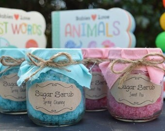 Baby Shower Sugar Scrub Gifts - Personalized - 4 oz each - Dozen (12 count)