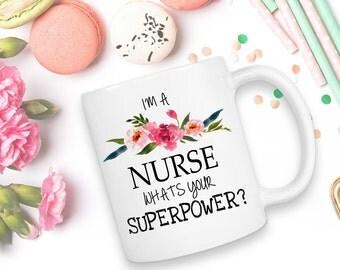 Nurse Mug - Nurse Gift - Nurse Coffee Mug - Gift For Nurse - Nurse Appreciation - Coffee Mug - Nurse Graduation - Registered Nurse Mug -