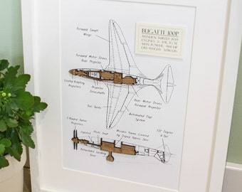 P 51 mustang blueprint wood cut p51 blueprint wall art p51 aircraft wall art aviation art bugatti 100p laser cut wood aviation art malvernweather Image collections