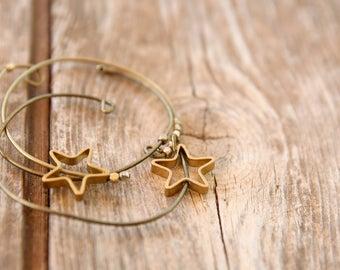 Tiny STAR bracelet, wish bracelet, bronze bracelet, friendship bracelet, Simple Bracelet, Indian bracelet, Simple and modern bracelet