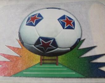 Vintage Soccer Ball Iron On Transfer