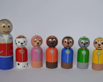 Paw Patrol Peg Dolls