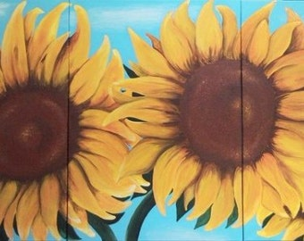 "Painting ""Sunflowers"""