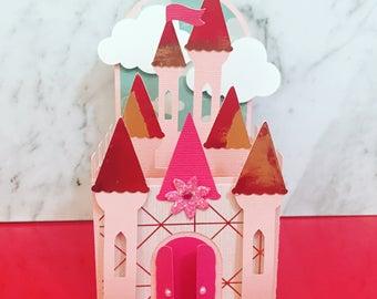 Princess  Castle Box Card