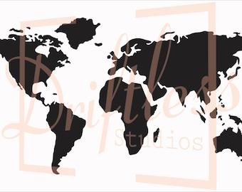 World map stencil etsy world map stencil stencil of world map map stencil world map wall pattern sciox Images
