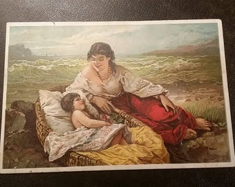 The Major & Knapp Lith. Co. N.Y C. 1885 13th SUMMER  at the SEASIDE Trade card