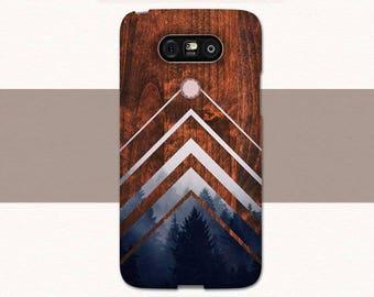 Geometric Wood Lg G6 Phone Case, Faux Wood Lg G5 Case, Lg G6 Case, Geometric Lg Phone Case, Chevrons Lg Case, Lg G5 Phone Case Nature Trees