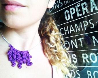 Crochet crochet necklace-Necklace-medusa necklace-handmade jewels