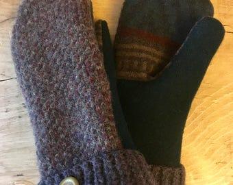 Wool Sweater Mittens (M)
