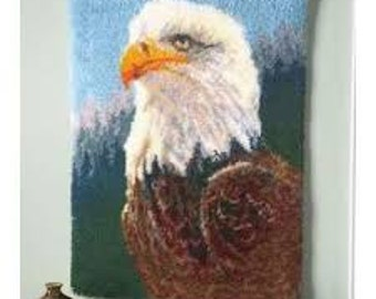 Eagle Latch Hook Wall Hanging