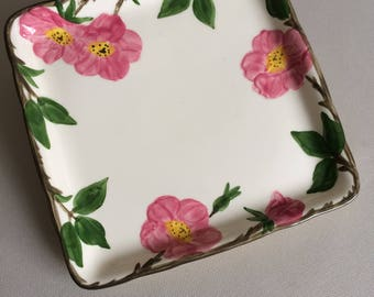 """Desert Rose 8"""" Square Microwave Tray by Franciscan"""