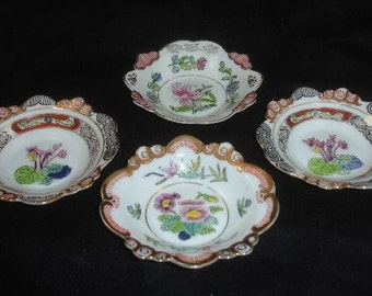 4 Hand Painted Floral Occupied Japan Finger Bowls