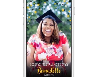 Graduation Snapchat Filter | Class of 2017 | Customized name and school colors