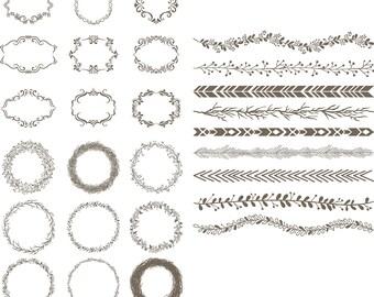 Wreath svg,Banner svg, Frame svg, Border svg,jpg,eps,psd,ai for Design/Print/ Silhouette Cameo/Cricut and Many More