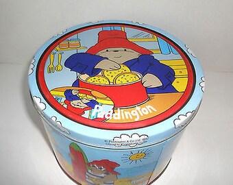 "Paddington Bear Vintage Tin 5-1/2"" high x 7-1/2"" across"