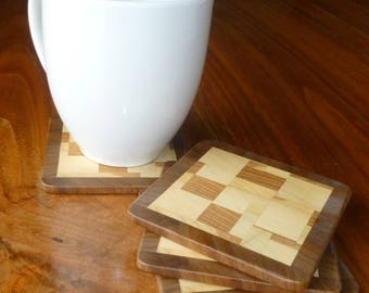 Endgrain Coasters - Set of 6