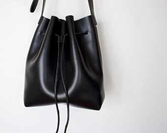 Vegan Leather Bucket Bag, Vegan Leather, Bucket Bag, Crossbody, Pouch, Faux Leather, Womens Handbag