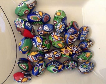 Glass Trade Beads / Millefiori