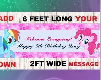 Pony banner,Pony birthday,Pony party,Pony