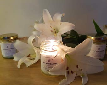 Organic White Lilly Scented Candles