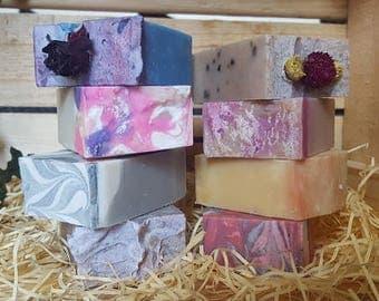 Box of 10 handmade artisan soaps
