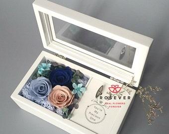 Rose Music Box ( white )