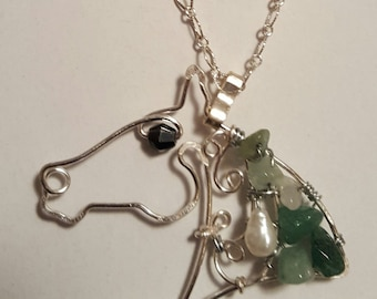Wirework Horsehead necklace