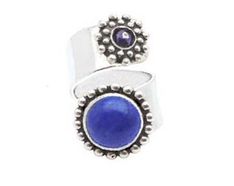 Ring cable stone lapis lazulite