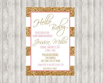 Baby Girl Shower Invite Printable