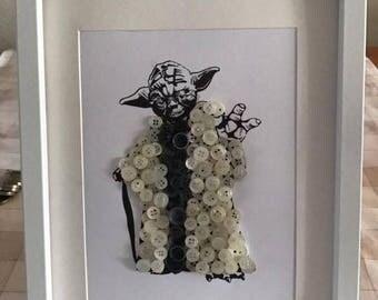 Yoda Button Frame