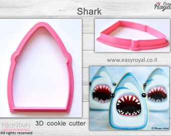 Shark - 3D cookie cutter