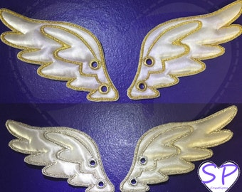 Adult size white shoe wings in your choice of color