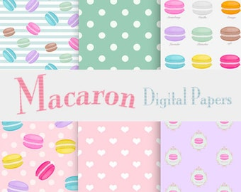 Macarons Digital Papers
