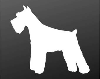 Miniature Schnauzer Vinyl Decal Car Window Laptop Dog Silhouette Sticker