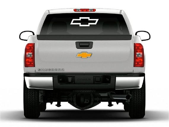 Chevrolet Bowtie Vinyl Decal Car Truck Window Large Chevy Logo - Chevy bowtie rear window decal