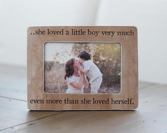 Mother's Day Gift Mom of BOY Son, Mother Son, Personalized Gift Frame, Gift for Wife, Mom of Boy