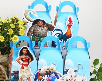 Moana favor box, Moana candy box, Moana treat box, Moana Goody box, Moana Favor bag, Moana party favor box, Moana birthday party box