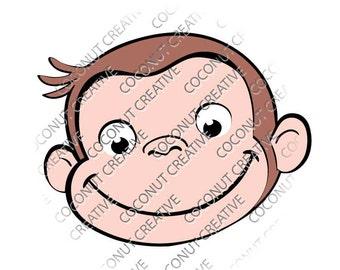 Curious George svg dfx jpg jpeg eps layered cut cutting files cricut silhouette die cut decal vinyl