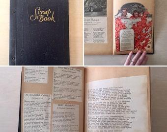 SALE- Vintage Scrapbook- Poetry Clippings - Ephemera - 1950's