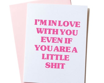 Dry Humor Card, Fun Valentines Card, Funny Love Card, Awkward Love Card, Funny Valentine Card, Love Card, Love, I'm In Love With You Card