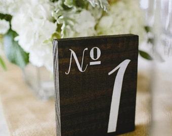 Wood Wedding Table Numbers - Wedding Decor Package - Rustic Table Numbers -Wedding Table Sign - Wedding Reception Signs - Summer Wedding