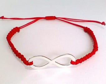 Red Thread Protective Bracelet, Turquoise Buddha