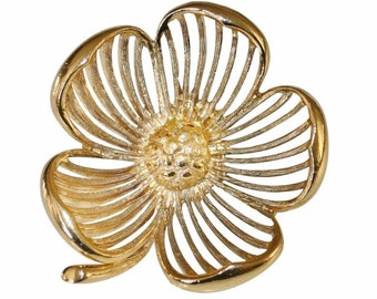 Brooch VINTAGE - openwork flower petals