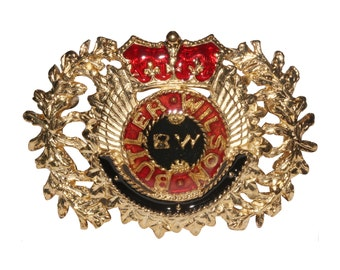 VINTAGE BW Butler & Wilson - black red laurel wreath brooch