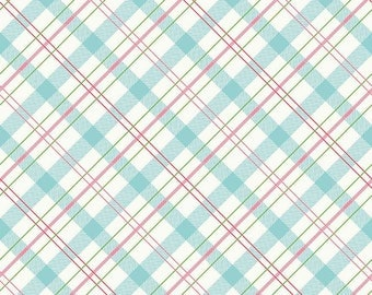 Mint and Pink Plaid Enchanted Riley Blake Fabric by the Yard