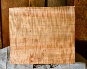 "10 1/2"" x 9 1/2"" x 1 3/4"" Maple Plank, Wood, Lumber, Slab"