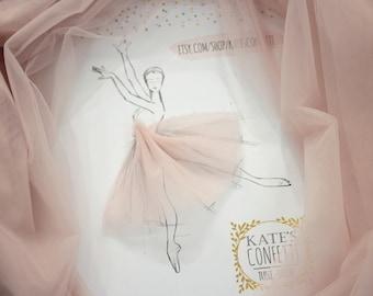 156 Light Blush Soft Luxury Tulle Fabric Pink Material Wholesale Tutu